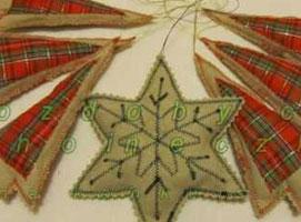 Jak uszyć ozdoby choinkowe - zawieszki w kształcie choinek