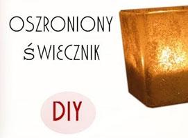 Jak zrobić świecznik z motywem szronu