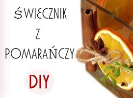 Jak zrobić świecznik z pomarańczy