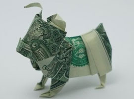 Jak złożyć buldoga z banknotu