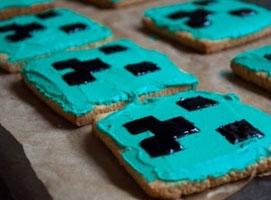 Jak upiec ciasteczka w stylu gry Minecraft