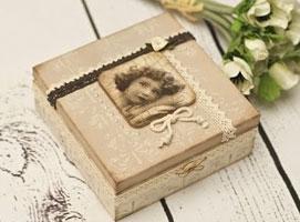 Jak zrobić pudełko z koronkami w stylu retro