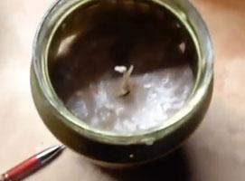 Jak zrobić świeczkę z odpadów wosku