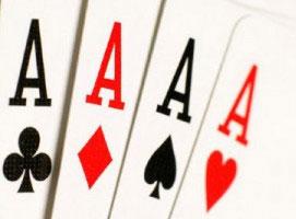 Jak nauczyć się triku z asami i talią kart