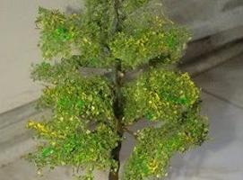 Jak zbudować makietę kolejową - wysokie drzewko