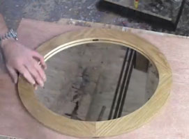 Jak zrobić owalne lustro w drewnianej oprawie