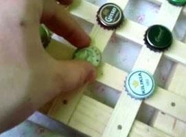 Jak zrobić ramkę na kapsle po piwie