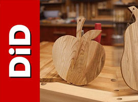 Jak zrobić deskę do krojenia w kształcie jabłka lub gruszki