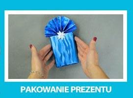 Jak pakować prezenty - sposób z falbanką