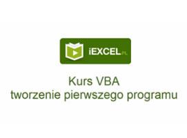 Jak napisać pierwszy program w Excelu - kurs VBA