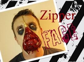 Jak wykonać krwawy makijaż Zipper Face
