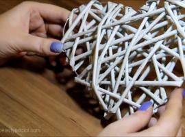 Jak zrobić serce z papierowej wikliny