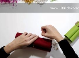 Jak robić wielkanocne dekoracje - serwetka z perłami