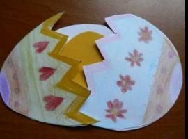 Jak robić wzory na kartki wielkanocne - połówki jajka
