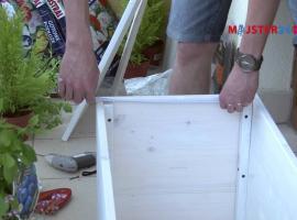 Jak wykonać drewnianą donicę na balkon lub taras