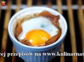 Jak zrobić jajko zapiekane w szynce z pomidorami suszonymi