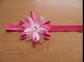 Jak zrobić elastyczną opaskę z kwiatkiem