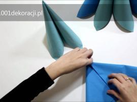 Jak złożyć serwetki - kolorowa piramida