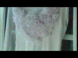 Jak zrobić elegancką bluzkę w drapowane kwiaty