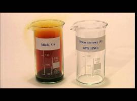 Jak wykonać efektowną reakcję miedzi z kwasem azotowym (V)