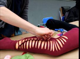 Jak zrobić legginsy z rajstop