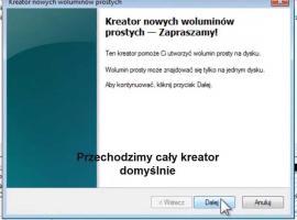 Jak podzielić dysk na partycje w Windows 7