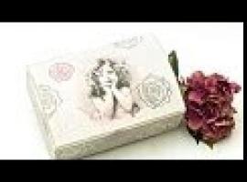 Jak wykonać kuferek z obrazkiem dziewczynki i z różami