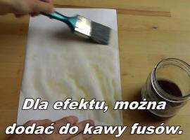 Jak zrobić papier postarzany za pomocą kawy