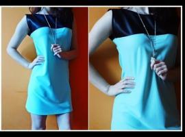 Jak uszyć sukienkę z dodatkiem skóry