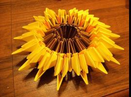 Jak wykonać słonecznik metodą origami modułowego