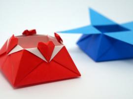 Jak zrobić pudełko origami z serduszkami