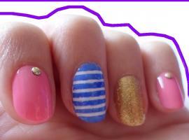 Jak pomalować paznokcie - paski, złoto i ćwieki