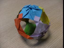 Jak zrobić przestrzenną piłkę z papieru