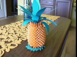Jak złożyć dojrzałego ananasa w stylu origami modułowego