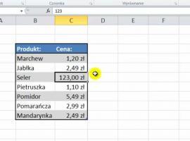 Jak korzystać z Microsoft Excel 2010 - Edytowanie danych