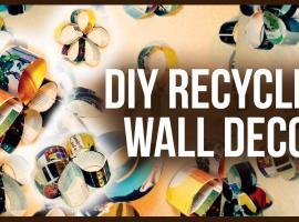 Jak wykonać dekoracje na ścianę z kolorowych magazynów