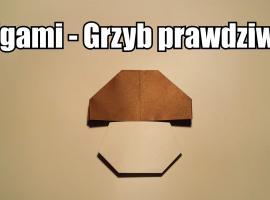Jak zrobić grzyba z papieru - prawdziwek origami