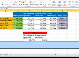Jak korzystać z Excel 2010 - kolumny i wiersze