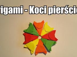 Jak zrobić koci pierścień z origami