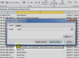 Jak korzystać z Excel 2010 - Znajdź i zamień