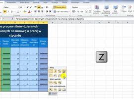 Jak korzystać z Excel 2010 - kopiowanie tabeli