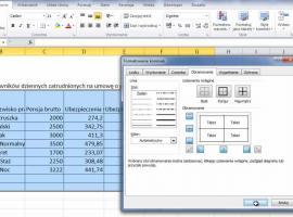 Jak korzystać z Excel 2010 - obramowanie tabel