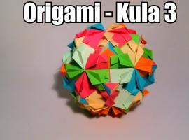 Jak zrobić kulę z motywem kwiatu w stylu origami