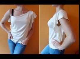 Jak uszyć bluzkę na jedno ramię