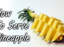 Jak pokroić ananasa w restauracyjnym stylu
