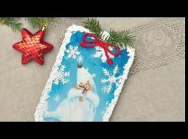 Jak wykonać zimowy obrazek z pastą śniegową