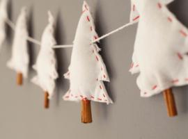 Jak zrobić świąteczne girlandy z filcu i cynamonu