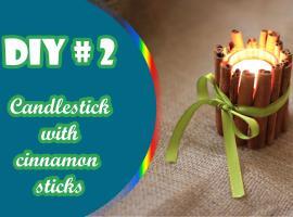 Jak zrobić świecznik z lasek cynamonu