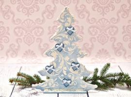 Jak wykonać dekoracyjną choinkę z pomocą pasty strukturalnej