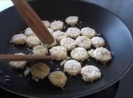 Jak usmażyć banana w wiórkach kokosowych